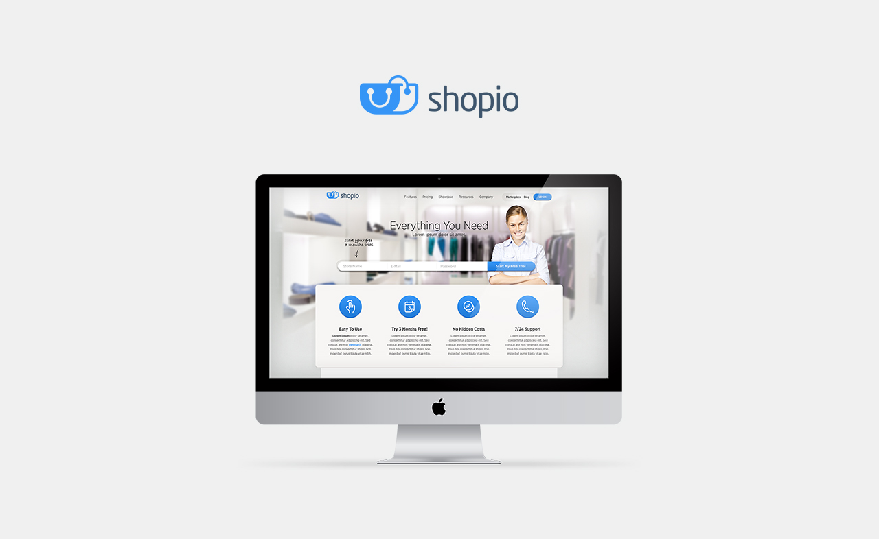Shopio Website Design